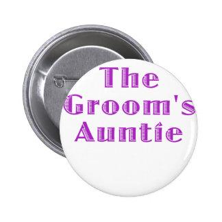 The Grooms Auntie 6 Cm Round Badge