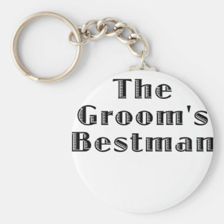 The Grooms Bestman Basic Round Button Key Ring