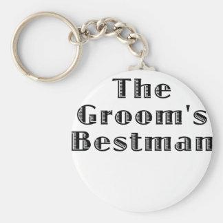 The Grooms Bestman Key Ring