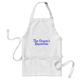 The Grooms Beyotches (Blue) Adult Apron