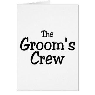 The Grooms Crew Wedding Greeting Card