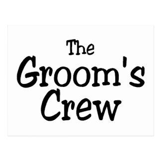The Grooms Crew Wedding Postcard