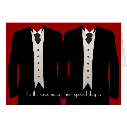 The Grooms Greeting Card