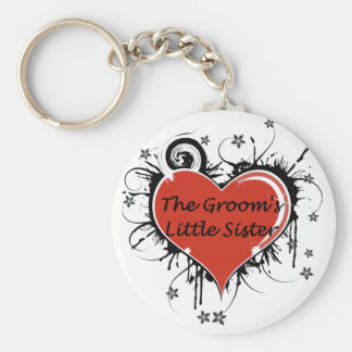 The Groom's Little Sister Basic Round Button Key Ring