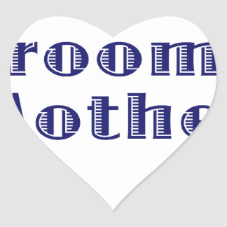 The Grooms Mother Heart Sticker