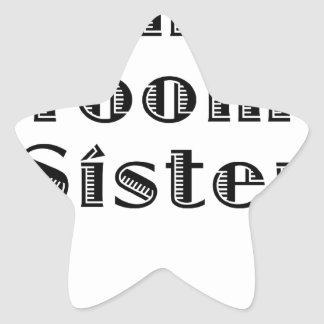 The Grooms Sister Star Sticker