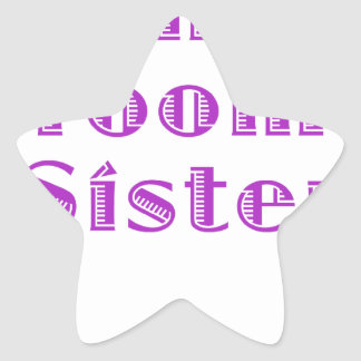 The Grooms Sister Star Stickers