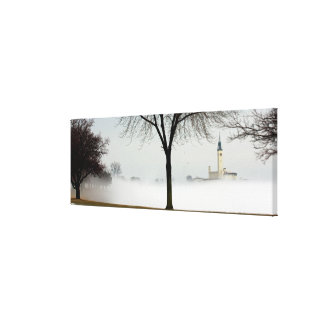 the Grosse Pointe Yacht Club, Lakeshore Drive... Stretched Canvas Print