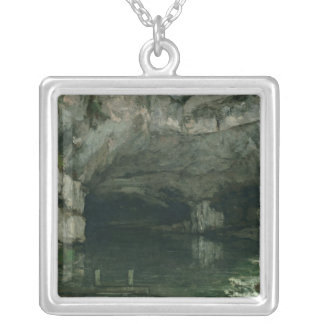 The Grotto of the Loue, 1864 Silver Plated Necklace