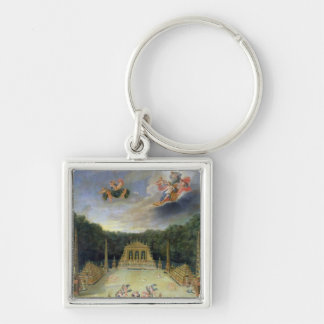 The Groves of Versailles. L'Arc de Triomphe Silver-Colored Square Key Ring