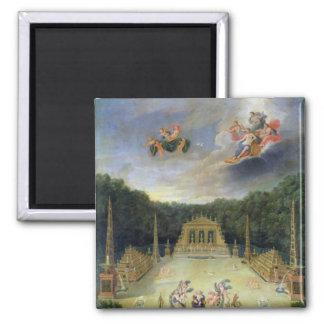 The Groves of Versailles. L'Arc de Triomphe Square Magnet