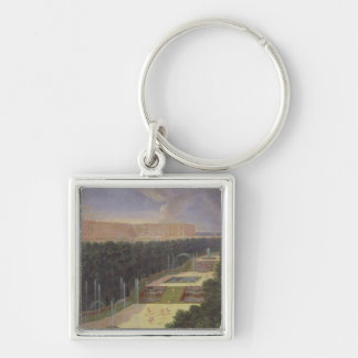 The Groves of Versailles Silver-Colored Square Key Ring