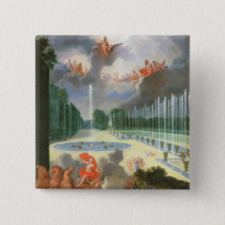 The Groves of Versailles. View of Dragon Pool 15 Cm Square Badge