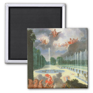 The Groves of Versailles. View of Dragon Pool Fridge Magnets
