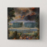 The Groves of Versailles. View of pool of Neptune 15 Cm Square Badge