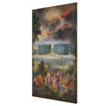 The Groves of Versailles. View of pool of Neptune Canvas Print