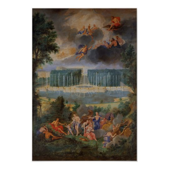 The Groves of Versailles. View of pool of Neptune Poster