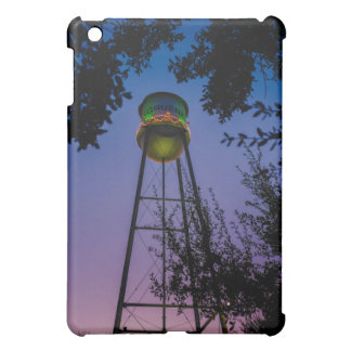 The Gruene water tower with the purple evening sky iPad Mini Cases