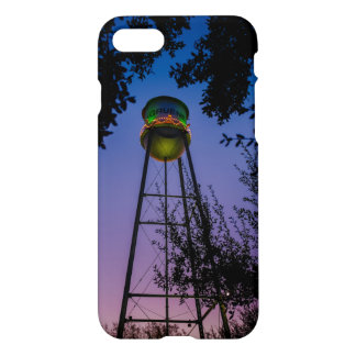 The Gruene water tower with the purple evening sky iPhone 7 Case