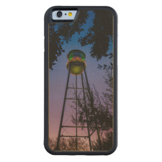 The Gruene water tower with the purple evening sky Maple iPhone 6 Bumper
