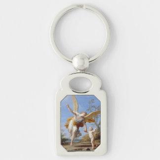 """The Guardian Angel"" art key chain Keyring"