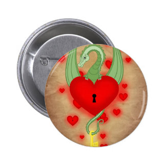 The guardian of the heart 6 cm round badge