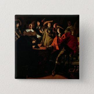 The Guards Smoking, 1643 15 Cm Square Badge