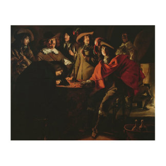 The Guards Smoking, 1643 Wood Wall Decor