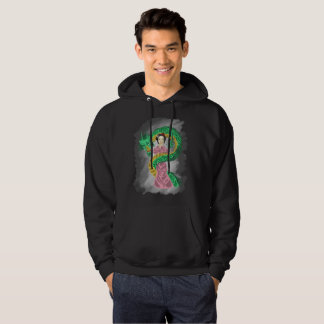 The gueisha and the dragon moletom hoodie