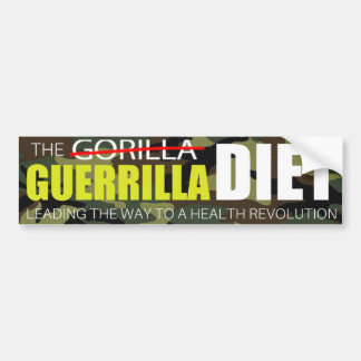 The Guerrilla Diet Bumper Sticker