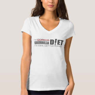 The Guerrilla Diet Custom Women's V-Neck T-Shirt