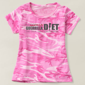 The Guerrilla Diet Women's Pink Camouflage T-Shirt