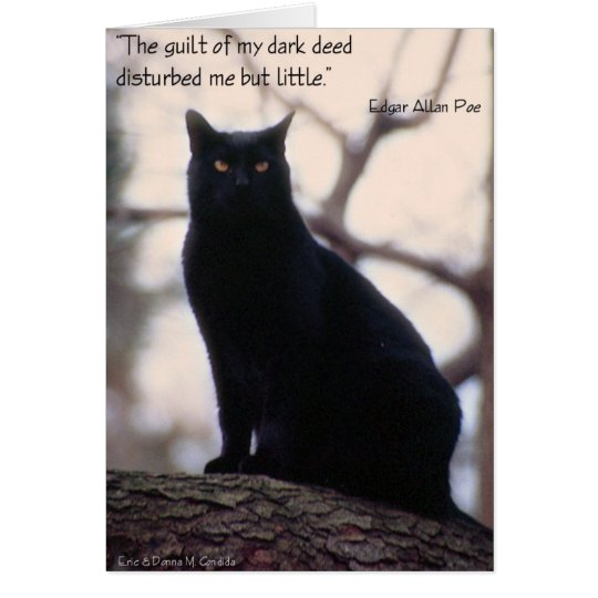 The Guilt Of My Dark Deed... Card