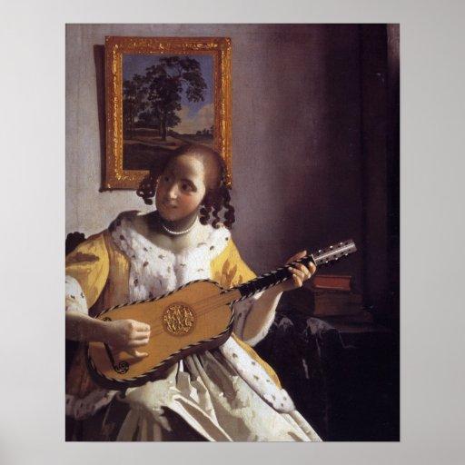 The Guitar Player Print