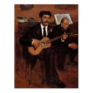The guitarist Pagans and Monsieur Degas by Manet Postcard