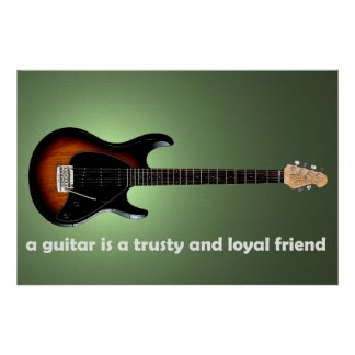 The Guitarist's Loyal Friend Poster