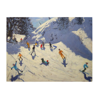 The Gully Belle Plagne 2004 Wood Wall Art