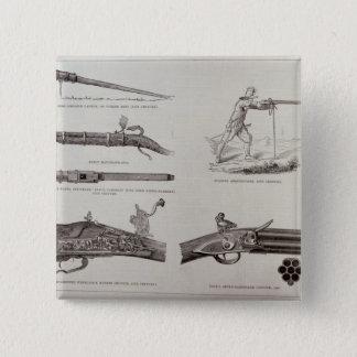 The Gun and its Development 15 Cm Square Badge