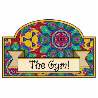 """The Gym"" - Decorative Sign Acrylic Cut Outs"