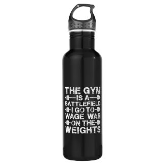 The Gym Is A Battlefield - Workout Motivational 710 Ml Water Bottle