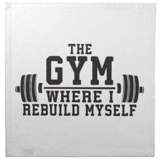 The Gym - Rebuild Myself - Workout Inspirational Napkin