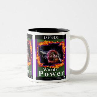 The Gypsy Curse Words Power 2-tone mug