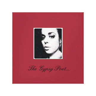 The Gypsy Poet (red) Stretched Canvas Print