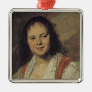 The Gypsy Woman, c.1628-30 Silver-Colored Square Decoration