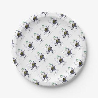 the haggis dance paper plate