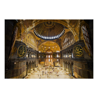 The Hagia Sophia Interior in Istanbul Poster