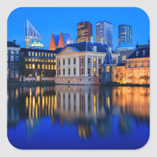 The Hague skyline at blue hour sticker