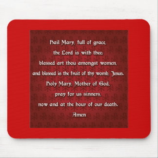 The Hail Mary Prayer in traditional English Mouse Pad