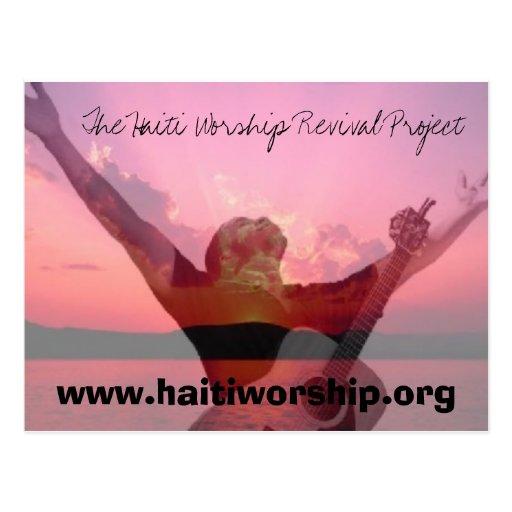 The Haiti Worship Revival Project Postcard
