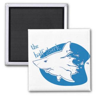 the half shark funny cartoon magnet